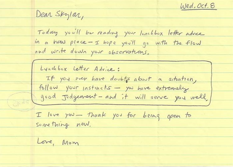 Thank You Letter To Daughter From Mother
